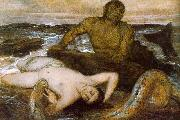 Arnold Bocklin Triton and Nereid China oil painting reproduction