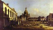 Bernardo Bellotto The New Market Square in Dresden. China oil painting reproduction