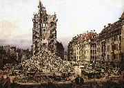 Bernardo Bellotto The Ruins of the Old Kreuzkirche in Dresden China oil painting reproduction