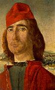 CARPACCIO, Vittore Portrait of an Unknown Man with Red Beret dfg China oil painting reproduction