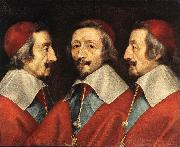 CERUTI, Giacomo Triple Portrait of Richelieu kjj China oil painting reproduction