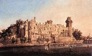 Canaletto Warwick Castle: the South Front df China oil painting reproduction