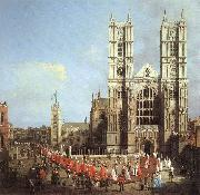 Canaletto London: Westminster Abbey, with a Procession of Knights of the Bath  f China oil painting reproduction
