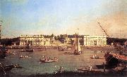 Canaletto London: Greenwich Hospital from the North Bank of the Thames d China oil painting reproduction