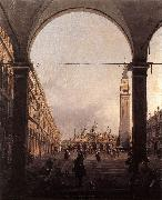 Canaletto Piazza San Marco: Looking East from the North-West Corner f China oil painting reproduction