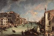 Canaletto Grand Canal, Looking East from the Campo San Vio China oil painting reproduction