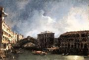 Canaletto The Grand Canal near the Ponte di Rialto sdf China oil painting reproduction