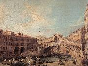 Canaletto Grand Canal: The Rialto Bridge from the South f China oil painting reproduction