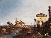 Canaletto Capriccio with Venetian Motifs df China oil painting reproduction