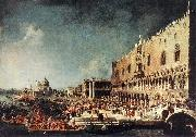 Canaletto Arrival of the French Ambassador in Venice d China oil painting reproduction