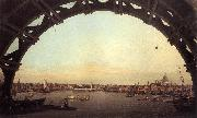 Canaletto London: Seen Through an Arch of Westminster Bridge df China oil painting reproduction