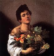 Caravaggio Boy with a Basket of Fruit f China oil painting reproduction