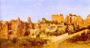 Charles Blechen The Ruins of the Septizonium on the Palatine in Rome China oil painting reproduction