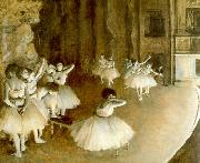 Edgar Degas Ballet Rehearsal on Stage China oil painting reproduction
