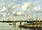 Eugene Boudin Lameuse a Rotterdam China oil painting reproduction