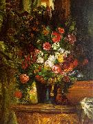 Eugene Delacroix Bouquet of Flowers on a Console_3 China oil painting reproduction