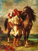 Eugene Delacroix Arab Saddling his Horse China oil painting reproduction