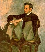 Frederic Bazille Portrait of Renoir China oil painting reproduction