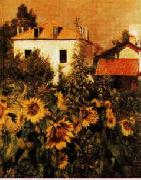 Gustave Caillebotte Sunflowers, Garden at Petit Gennevilliers China oil painting reproduction