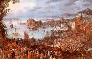 Jan Brueghel The Great Fish Market China oil painting reproduction