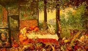Jan Brueghel The Sense of Taste China oil painting reproduction