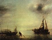 Jan van de Cappelle Becalmed China oil painting reproduction