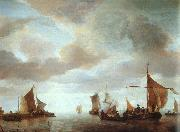 Jan van de Cappelle Ships on a Calm Sea near Land China oil painting reproduction