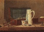 Jean Baptiste Simeon Chardin Pipes and Drinking Pitcher China oil painting reproduction