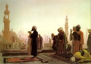 Jean Leon Gerome Prayer on the Rooftops of Cairo China oil painting reproduction