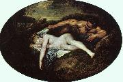 Jean-Antoine Watteau Jupiter and Antiope China oil painting reproduction