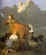 Karel Dujardin Woman Milking a Red Cow China oil painting reproduction