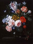 Nicolaes Van Verendael A Tulip, Carnations and Morning Glory in a Glass Vase China oil painting reproduction