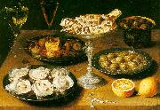 Osias Beert Still Life with Oysters and Pastries China oil painting reproduction
