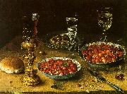 Osias Beert Still Life with Cherries Strawberries in China Bowls China oil painting reproduction
