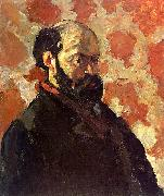 Paul Cezanne Self Portrait on a Rose Background China oil painting reproduction