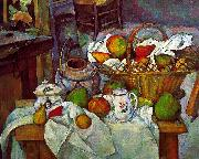 Paul Cezanne Vessels, Basket and Fruit China oil painting reproduction