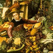 Pieter Aertsen Market Woman  with Vegetable Stall China oil painting reproduction