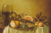 Pieter Claesz Breakfast with Ham China oil painting reproduction