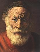 REMBRANDT Harmenszoon van Rijn Portrait of an Old Man in Red (detail) China oil painting reproduction