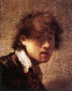 REMBRANDT Harmenszoon van Rijn Self-Portrait qw5u China oil painting reproduction