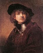 REMBRANDT Harmenszoon van Rijn Self Portrait as a Young Man  dh China oil painting reproduction
