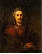 REMBRANDT Harmenszoon van Rijn Man with a Magnifying Glass du China oil painting reproduction