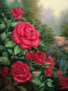 unknow artist Red Roses in Garden China oil painting reproduction