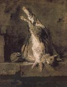 Jean Baptiste Simeon Chardin Hare hunting bags and powder extinguishers China oil painting reproduction