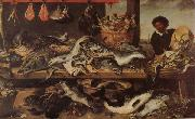 Frans Snyders Fish Stall China oil painting reproduction