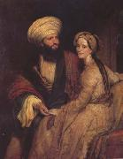 Henry William Pickersgill Portrait of James Silk Buckingham and his Wife in Arab Costume of Baghdad of 1816 (mk32) China oil painting reproduction